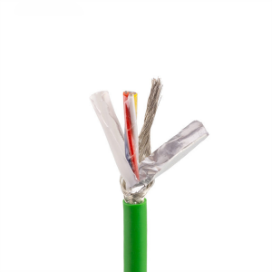 1 M MOQ CAT5 4 core 22 AWG green pvc shield ethernet cable