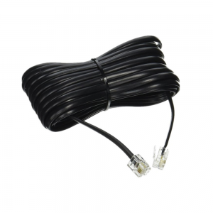 10 M Black pvc cat3 phone cable rj12 rj11 rj9 telephone cord