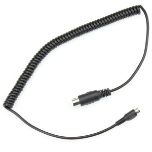 4 5 6 core straight male curly cord cable 6 FT Mini din cable black