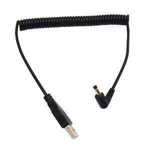 6ft Spring Coiled USB 2.0 A Male Plug to 90 degree right Angle DC Power Cable