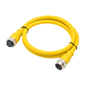 "7/8"" circular connector straight moulding 3 4 5 pin PVC PUR cable connector waterproof IP67"
