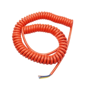 China factory offer orange 2 3 4 5 6 8 core coiled cable or retractable cable and spring cable