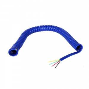 Custom Cat3 RJ9 RJ11 RJ12 modular plug 4 core 6 core curve telephone handset extenstion jumper curly cable