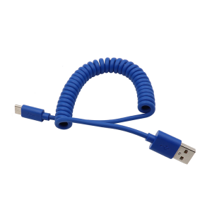Factory supply fast charging 4 core Charging and Data 2.0 version type c usb coiled cable