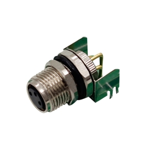 M8 3 4 5 pin male or female pcb type right angle connector