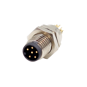 M8 a code panel mount Connector male 6 pin m8 straight socket