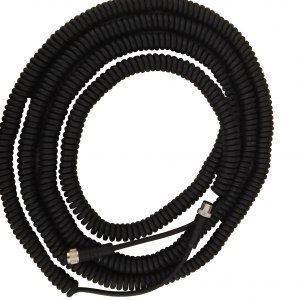 One of the 3000 mm coiled closed length manufacturer of M12 male female 3 4 5 6 8 12 17 core retractable coiled electrical power cord cable