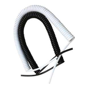 White,beige and black 8 9 core coiled cable