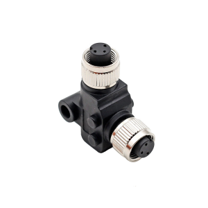 waterproof M12 L connector,M12 L splitter,female to female M12 adapter