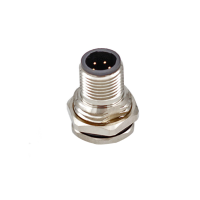 China 3 4 5 6 pin C Code M12 Male Female Back Screw Front Panel Mount Solder Socket Connector factory