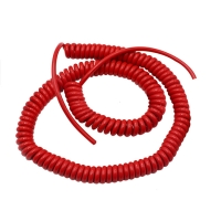 China 6 core red pur shield material flex coiled wire extension lead cable cord supplier factory