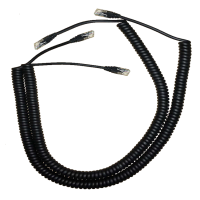 China Black 8 core coiled pvc pu utp cat5e cat6 network internet rj45 ethernet patch cable factory