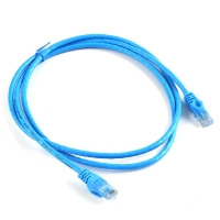 China Cat6e RJ45 plug 4pair 8 core 24 AWG bare copper stranded patch cord cable blue color 2 M factory