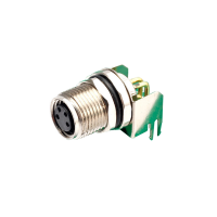 China M8 3 4 5 6 8 pin panel mount 90 degree angled PCB mount socket receptacle M8 connector factory