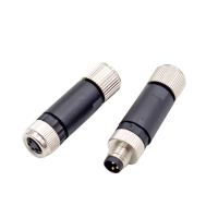 China M8 3 pin 4 pin male female assembly connector fix screw type factory