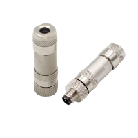 China M8 3pin 4pin Straight Shielded male female Metal Plug M8 Field Wireable Connector factory