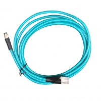 China M8 D code 4 core or 8 core pair twisted M8 to RJ45 ethernet cable factory