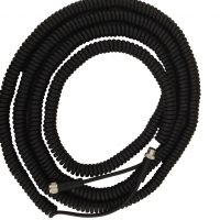 China One of the 3000 mm coiled closed length manufacturer of M12 male female 3 4 5 6 8 12 17 core retractable coiled electrical power cord cable factory