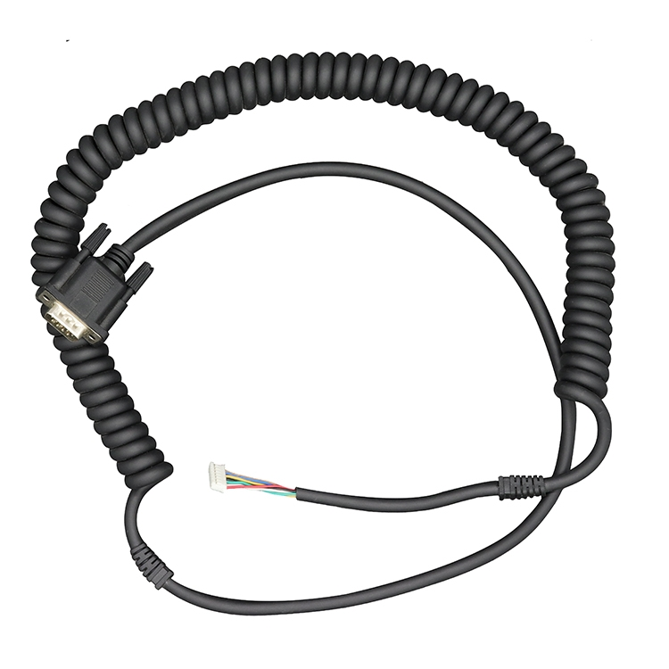 6ft Customized Molding D Sub Connector Db9 Cable Male To Male Plug