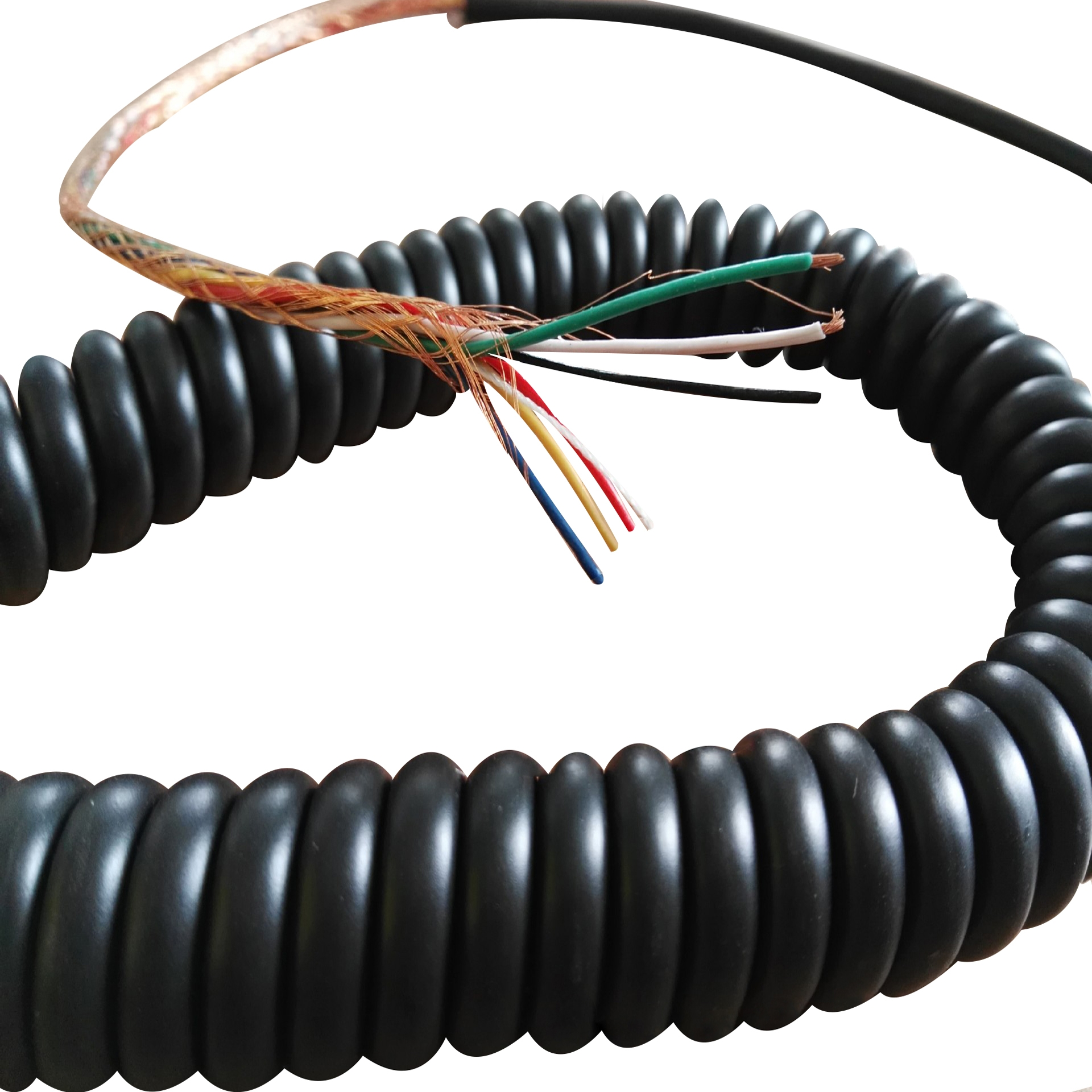 Cat 5 Cat 5e Rj12 Rj11 4 Core 6 Core 8 Core 6p6c 6p4c Rj45 Spiral Cable